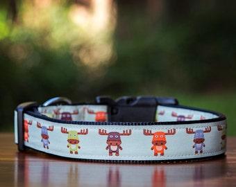 Cute Moose Dog Collar / XS-XL Dogs / Dog Collars Australia / Moose Dog Collar