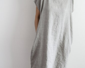 Oversize Linen Dress - Natural Flax