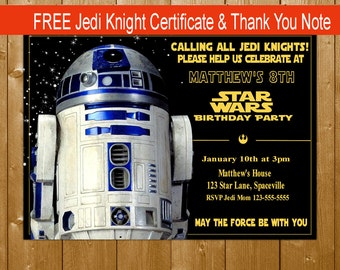 bb invitation star wars invitation star wars the force, Party invitations