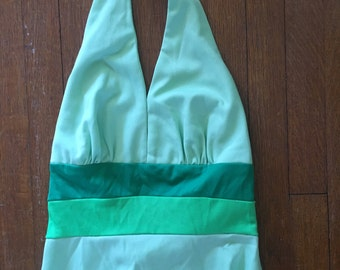 Long Green Halter Dress
