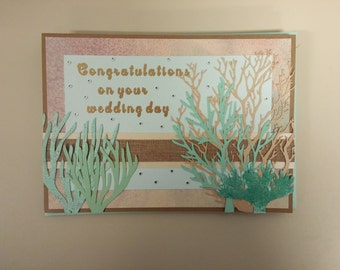 Coral Reef wedding card