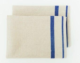SALE 10% Off - Blue Stripe Nordic Tea Towel