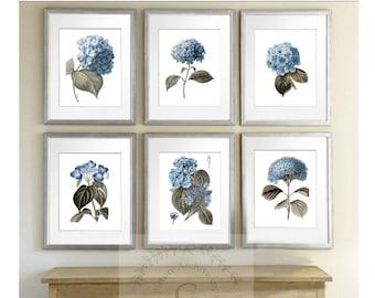 Hydrangea Wall Art hydrangea wall art | etsy