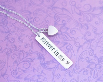 Pet Memorial Pendant with Heart Urn - Cremation Jewelry - Hand Stamped Jewelry - Urn Necklace - Memorial Jewelry - Ash Necklace