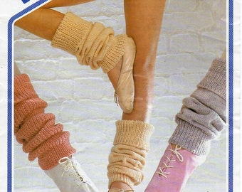Womens Childrens Legwarmers Knitting pattern PDF Download Ribbed legwarmers Plain Legwarmers Ballet Small Med Large DK Light Worsted 8 ply