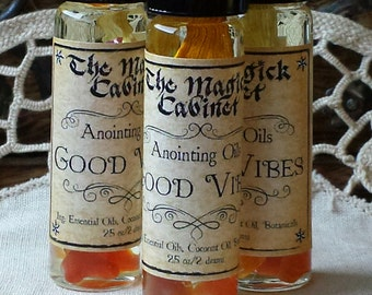 Good Vibes Oil, Wicca, Witch, Witchcraft, Perfume Oil, Ritual Oil, Anointing Oil, Perfume, Aromatherapy, Essential Oils, Apothecary