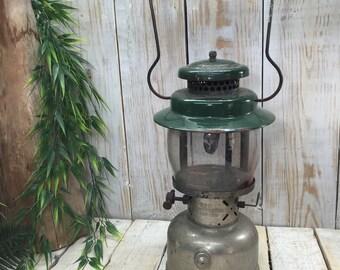 Vintage Coleman Lantern, Camping Lantern, antique lantern, green lantern, Green Coleman, gas lantern, kerosene lantern, Coleman Light