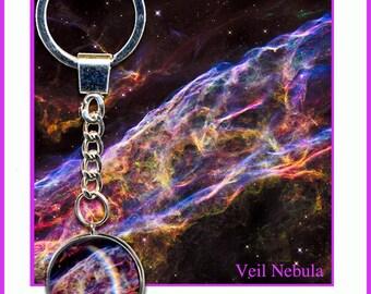 Veil Nebula Keyring with card and Gift Box