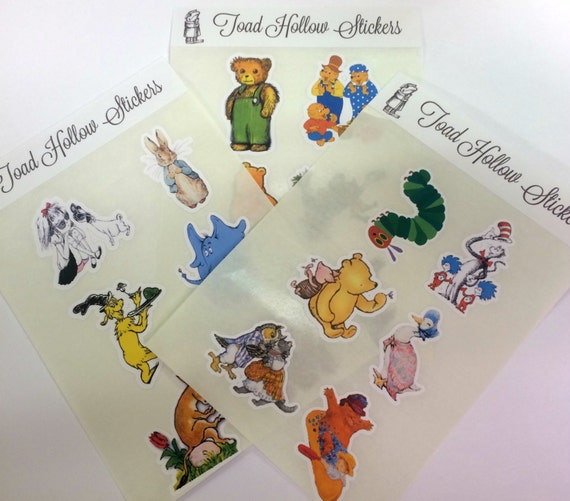 Stickers - Storybook,Stickers,Storybook Characters Stickers,Planner Stickers,Birthday Party,Childrens Books Labels,Gift Wrap,Storybook Party