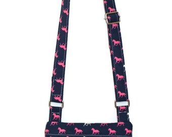 Horse Purse, Crossbody Purse, Horse Fabric Bag, Cross Body Bag, Gift for Her, Tween Bag, Teen Purse, Girl's Purse, BFF Gift