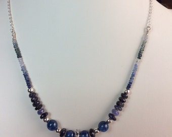 Kyanite, Sapphire and Iolite Necklace