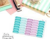 Hydrate Water Drop April Themed Planner Stickers- 35 count