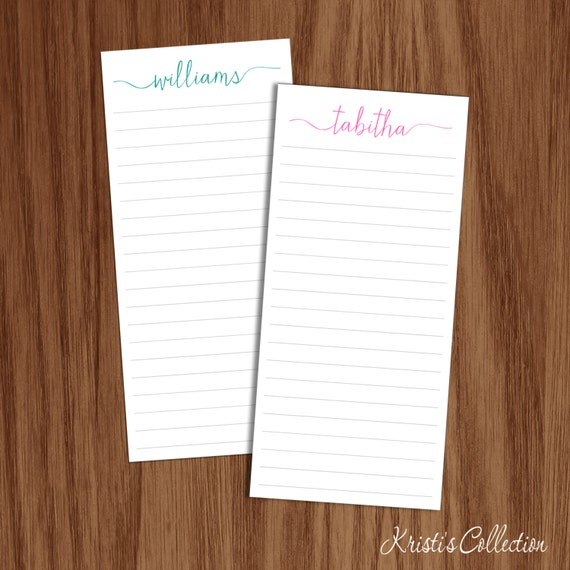 Custom Notepads Memo Pads: Personalized Lined Notepads Note Pads Custom Grocery Things