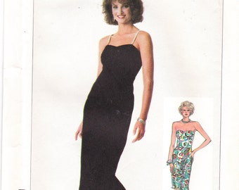 Strapless Dress Spaghetti Strap Evening Dress Special Occasion Long Dress Sweetheart Neckline Simplicity Sewing Pattern 7853 Size 10 12 14