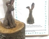 Happy Hare Needle Felt Kit - beginner/ intermediate - The Wishing Shed - Brown Hare Decoration / Ornament Gift