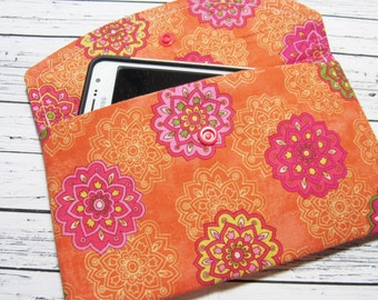 BOHO Hippie iPhone Clutch Wallet, Smartphone Wallet Clutch, Women's Fabric Clutch Wallet, iPhone Clutch, Phone Case, Cell Phone Holder