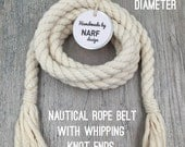 Nautical Rope Belt With Whipping Knot Ends