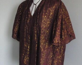 VTG 1960's Shimmering Bronze Blouse