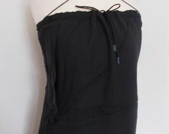 Vintage Ann Storey black evening dress  Size small UK 8 10