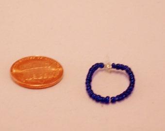 Mini Blue Bead Necklace - small