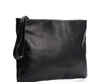 black clutch purse - evening clutch bag - leather clutch wallet - leather wristlet wallet - wristlet purse - leather clutch purse - Galla
