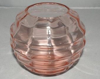 Unique Pink rose bowl, flower bowl