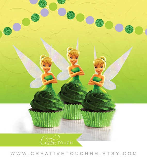 Tinker Bell Cupcake Toppers Tinkerbell Cupcake Toppers