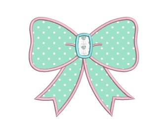 Cute Bow Ribbon Machine Applique Embroidery Designs 6 Size - INSTANT DOWNLOAD