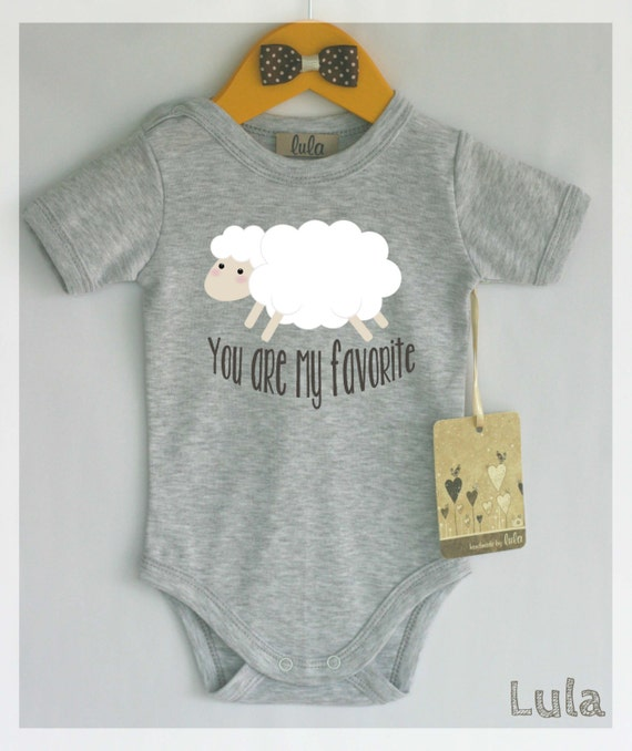 Sheep baby clothes You are my favorite baby romper Modern