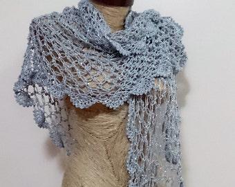 Wedding shawl gray, shawl wedding gray, shawl gray wedding, crochet shawl, bridal shawl, spring wedding shawl