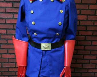 Classic Bucky Barnes custom made costume, cosplay costume, select options, cotton blend twill, jacket and shorts