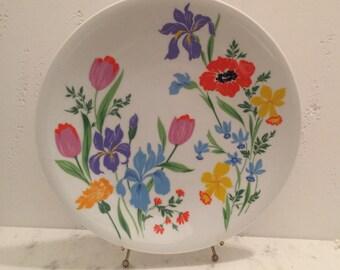 Heinrich Floral Platter - Retro Bright Primavera Floral Platter by Heinrich