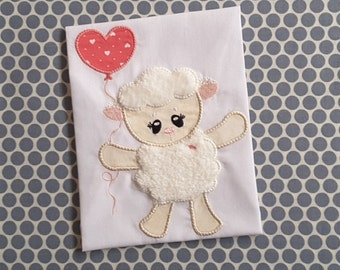 Baby Applique Machine Embroidery Design Baby Lamb
