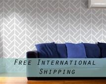 Removable Wallpaper, Geometric wallpaper, Wallpaper, Peel and stick wallpaper, grey wallpaper, self adhesive wallpaper, herringbone