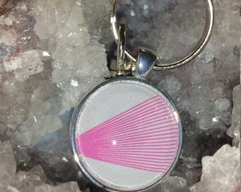 Pink Lines Pendant Keychain