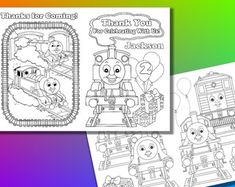 Thomas Thank you coloring pages, activity book, PDF file