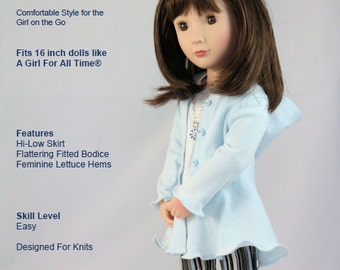 A Girl For All Time® Doll Clothes Pattern.  Hyde Park Hoodie PDF Pattern
