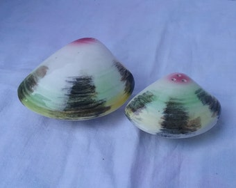 Vintage Clam Salt and Pepper Shakers
