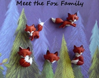 Fox Woodland Animal Silicone Mold Cake Tool Fondant Chocolate Candy DIY Cupcake Topper Decorations Polymer Clay Craft