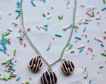 Triple Donut Necklace