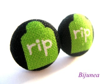 RIP earrings - Halloween thumbstone stud earrings- Halloween RIP post earrings - Halloween posts sf811