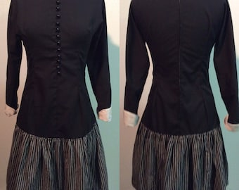 Vintage 1960's Victorian Inspired Dropped Waist Dress