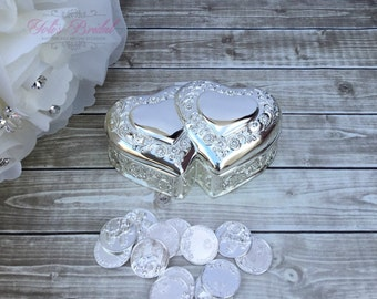 Wedding Arras, Heart Shape Wedding Arras, Silver Wedding Arras, wedding Unity Coins