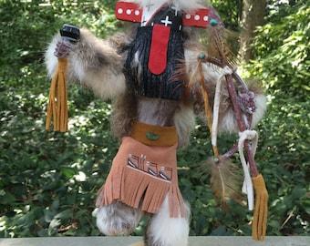 Warrior Kachina Doll, Navajo Katsina, Hopi Katcina, Native American Warrior Kachina, Navajo crafts, Navajo Artwork