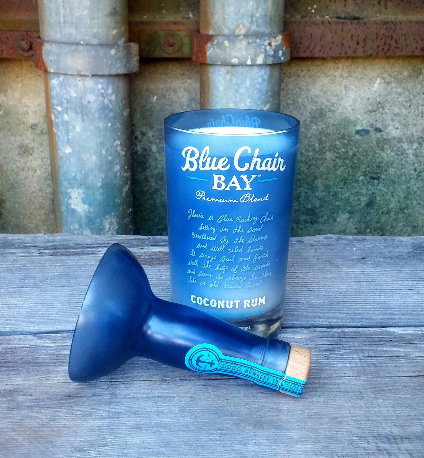 blue chair bay rum liquor bottle candle with by rewineit02346