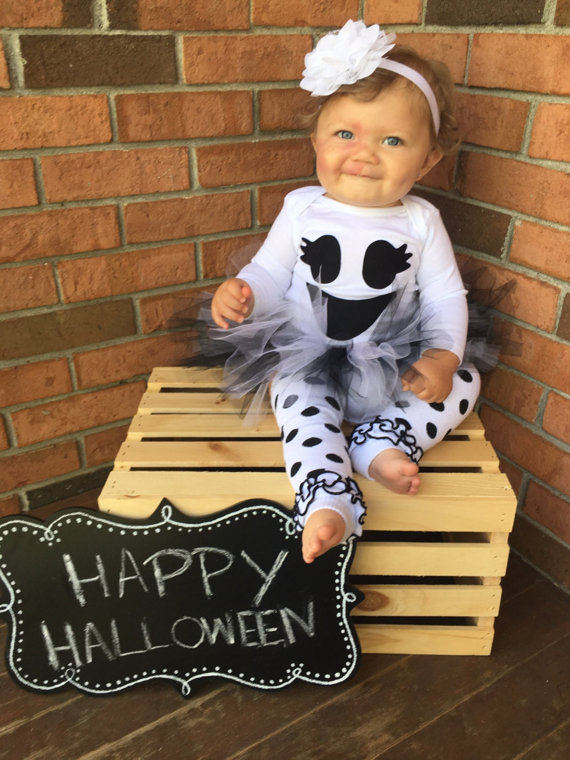 Baby Girl Ghost Costume Babies First Halloween By Britswreaths
