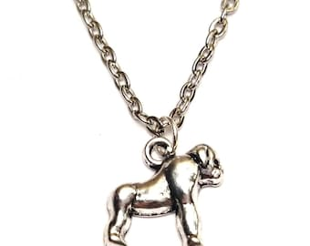 Gorilla Necklace, Gorilla Charm, Gorilla Pendant, Gorilla Jewelry, Great Ape Necklace, Monkey Necklace,Monkey Charm,Monkey Jewelry,Orangutan