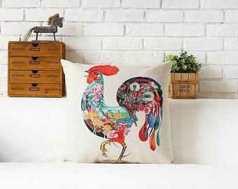 Chicken throw pillow case pillow cover