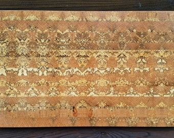 Reclaimed Wood wall art - Spalted Oak Mosaic