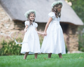 Heirloom Flower Girl Dress Smocked Dress for Toddlers Smocking